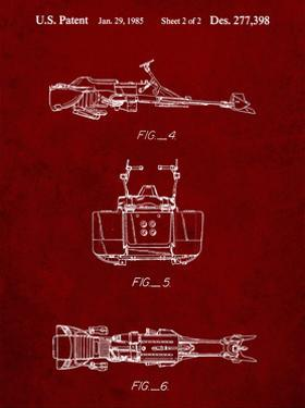 PP99-Burgundy Star Wars Speeder Bike Patent Poster by Cole Borders