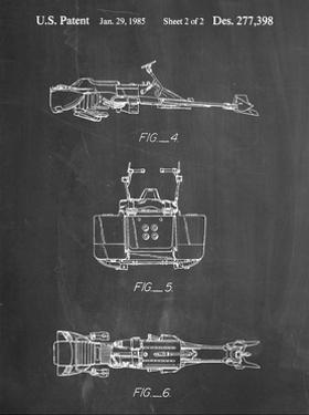 PP99-Chalkboard Star Wars Speeder Bike Patent Poster by Cole Borders