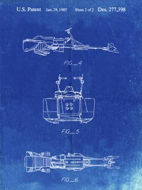 PP99-Faded Blueprint Star Wars Speeder Bike Patent Poster by Cole Borders
