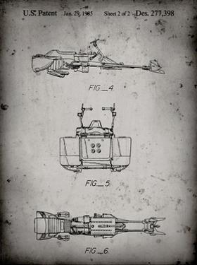 PP99-Faded Grey Star Wars Speeder Bike Patent Poster by Cole Borders