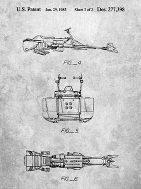 PP99-Slate Star Wars Speeder Bike Patent Poster by Cole Borders