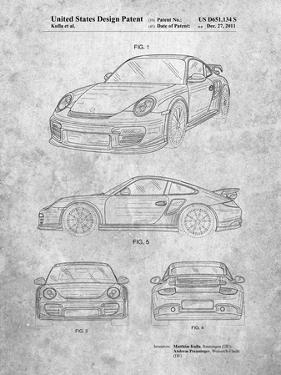 PP994-Slate Porsche 911 with Spoiler Patent Poster by Cole Borders