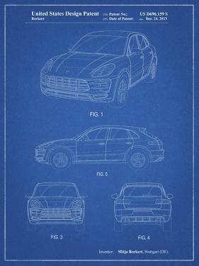 PP995-Blueprint Porsche Cayenne Patent Poster by Cole Borders