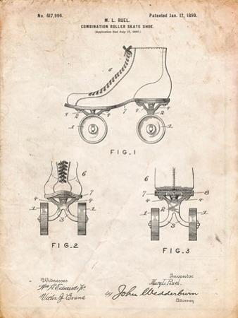 Roller Skate 1899 Patent by Cole Borders