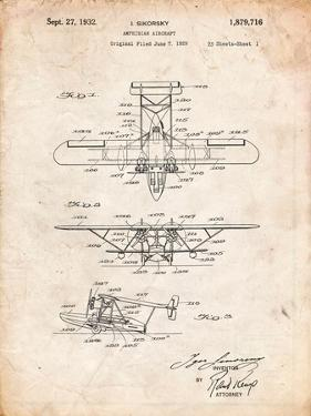 Sikorsky Amphibian Aircraft 1929 Patent by Cole Borders
