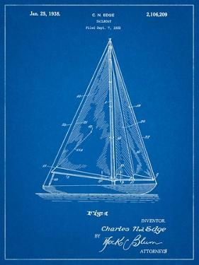 Sloop Sailboat Patent by Cole Borders