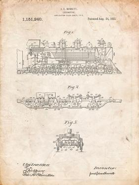 Steam Locomotive 1915 Patent by Cole Borders