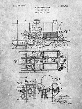 Steam Locomotive Patent by Cole Borders