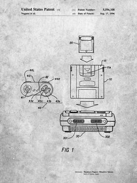 Super Nintendo Console Remote and Cartridge Patent by Cole Borders