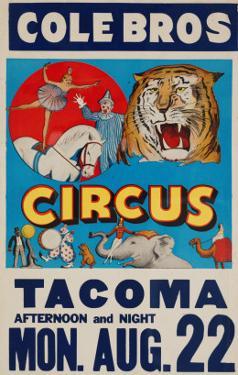 """""""Cole Bros. Circus: Tacoma"""", Circa 1938"""