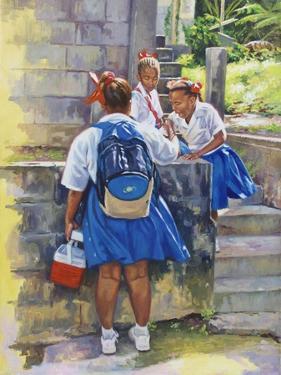 Schoolgirl Banter, 2019 by Colin Bootman