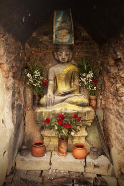 Buddhist Shrine, Nyaungshwe, Inle Lake, Shan State, Myanmar (Burma), Asia by Colin Brynn