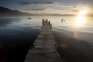Fisherman, Lago Atitlan, Guatemala, Central America by Colin Brynn