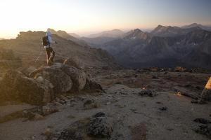 Hiker, Cathedral Provincial Park, British Columbia, Canada, North America by Colin Brynn