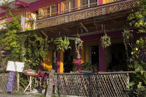 Hotel Entry, Flores, Lago Peten Itza, Guatemala, Central America by Colin Brynn