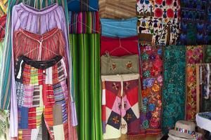 Local Handicrafts, San Pedro La Laguna, Lago Atitlan, Guatemala, Central America by Colin Brynn