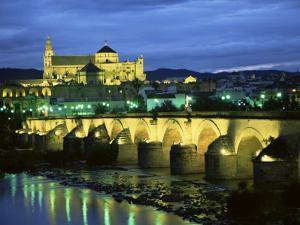 Mezquita (Cathedral) and Puente Romano (Roman Bridge), Cordoba, Andalucia (Andalusia), Spain by Colin Brynn