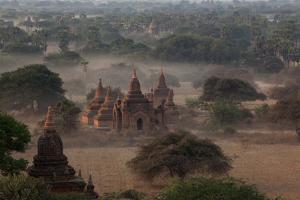 Ruins of Bagan (Pagan), Myanmar (Burma), Asia by Colin Brynn