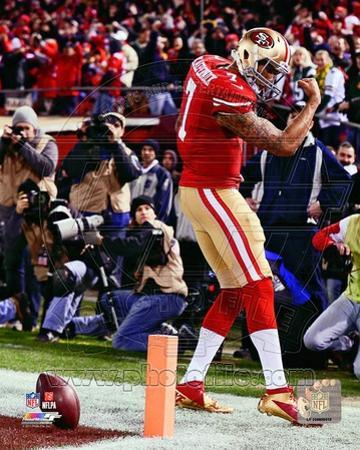 Colin Kaepernick Touchdown 2012 NFC Divisional Playoff Action
