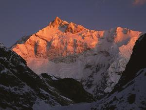 Dawn on Kangchenjunga, Talung Face, 8595m, Sikkim Himalaya, India by Colin Monteath/Minden Pictures