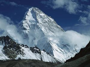 The North Face of K2 from K2 Glacier, 2nd Highest Peak in the World, Karakoram, Xinjiang, China by Colin Monteath/Minden Pictures
