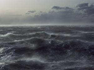 Windstorm over Ocean in Beagle Channel, Tierra Del Fuego, Argentina by Colin Monteath/Minden Pictures