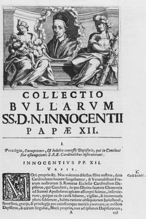 Collection of the Papal Bulls of Pope Innocent XII