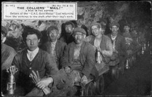 Colliers, Getters of the Coal, at the End of the Shift at Clay Cross Mine