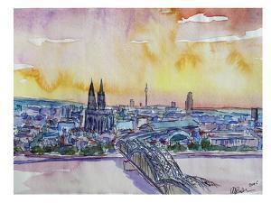 Cologne Deutz Bridge Sunset by M Bleichner