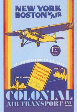 Colonial Air Transport, New York to Boston by Air