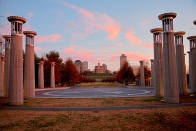 Colonnade in a park, 95 Bell Carillons, Bicentennial Mall State Park, Nashville, Davidson County...