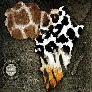 Animal Map of Africa by Color Bakery