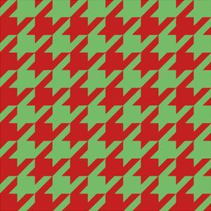 Xmas Houndstooth by Color Bakery