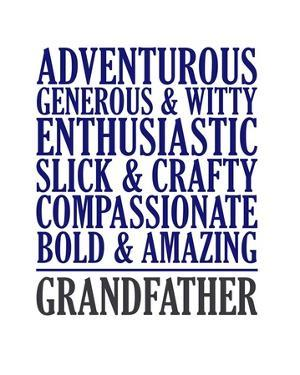 Adjectives for Grandpa by Color Me Happy