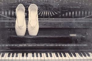 Ballet Shoes And Piano Old Photo Style Dust and Scratches by Color Me Happy