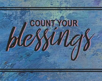 Count Your Blessing-Blue by Color Me Happy