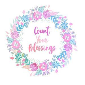 Count Your Blessing-Pastel by Color Me Happy