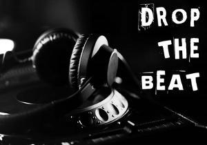 Drop The Beat - Black and White by Color Me Happy