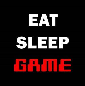 Eat Sleep Game - Black by Color Me Happy
