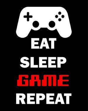 Eat Sleep Game Repeat - Black by Color Me Happy