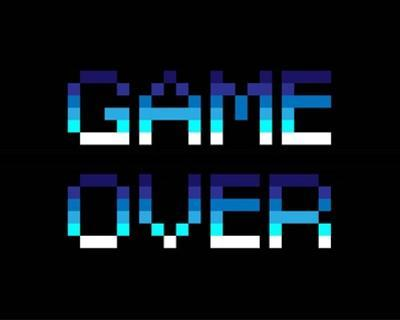 Game Over - Blue by Color Me Happy