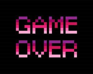 Game Over - Purple by Color Me Happy