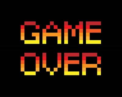 Game Over - Red by Color Me Happy