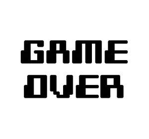 Game Over - White by Color Me Happy