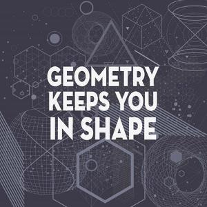 Geometry Keeps You In Shape Dark Pattern by Color Me Happy