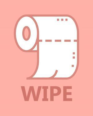 Girl's Bathroom Task-Wipe by Color Me Happy