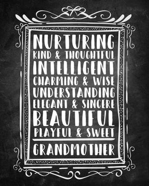 Grandma - Chalkboard by Color Me Happy