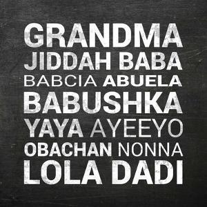 Grandma Various languages - Chalkboard by Color Me Happy