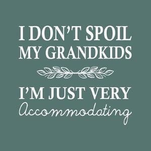 I Don't Spoil My Grandkids Leaf Design Teal by Color Me Happy