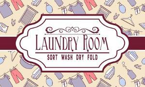 Laundry Room Sign Yellow Pattern by Color Me Happy